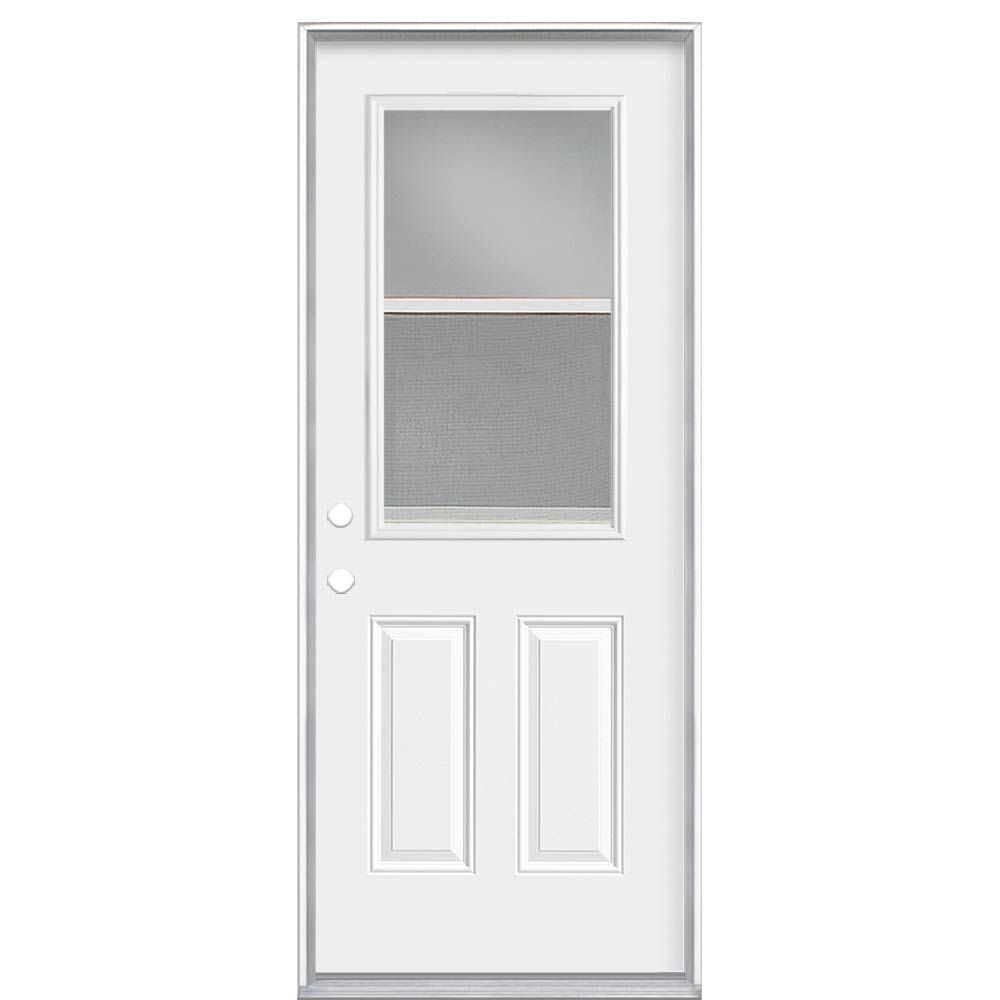 Masonite 32-inch x 4 9/16-inch Venting 1/2-Lite Right Hand Low-E Door - ENERGY STAR®