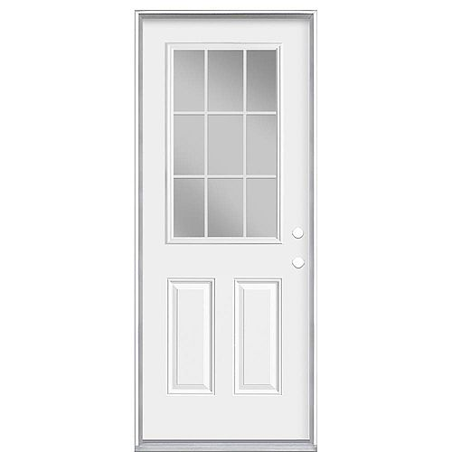Masonite 34-inch x 80-inch x 6 9/16-inch Internal 9-Lite Left Hand Low-E Entry Door - Energy Star