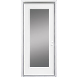 Masonite 34-inch x 7 1/4-inch Clear 1-Lite Left Hand Low-E Entry Door - ENERGY STAR®