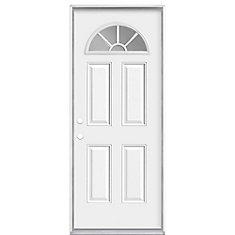 32-inch x 6 9/16-inch Internal Fan Lite Right Hand Entry Door - ENERGY STAR®