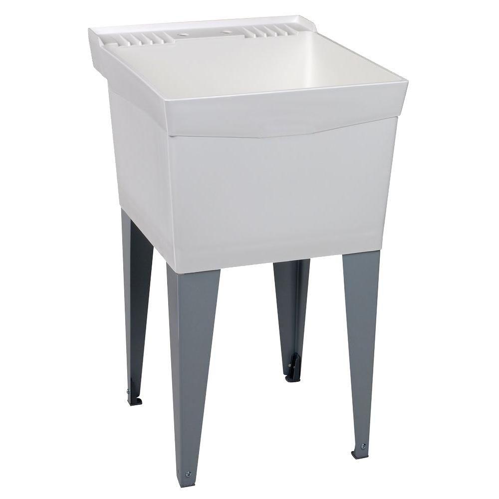 Utilatub Laundry Tub Floor Mount 20 Inch x 24 Inch