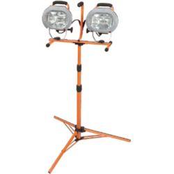HDX 1000W Halogen Twin-Head Tripod Work Light