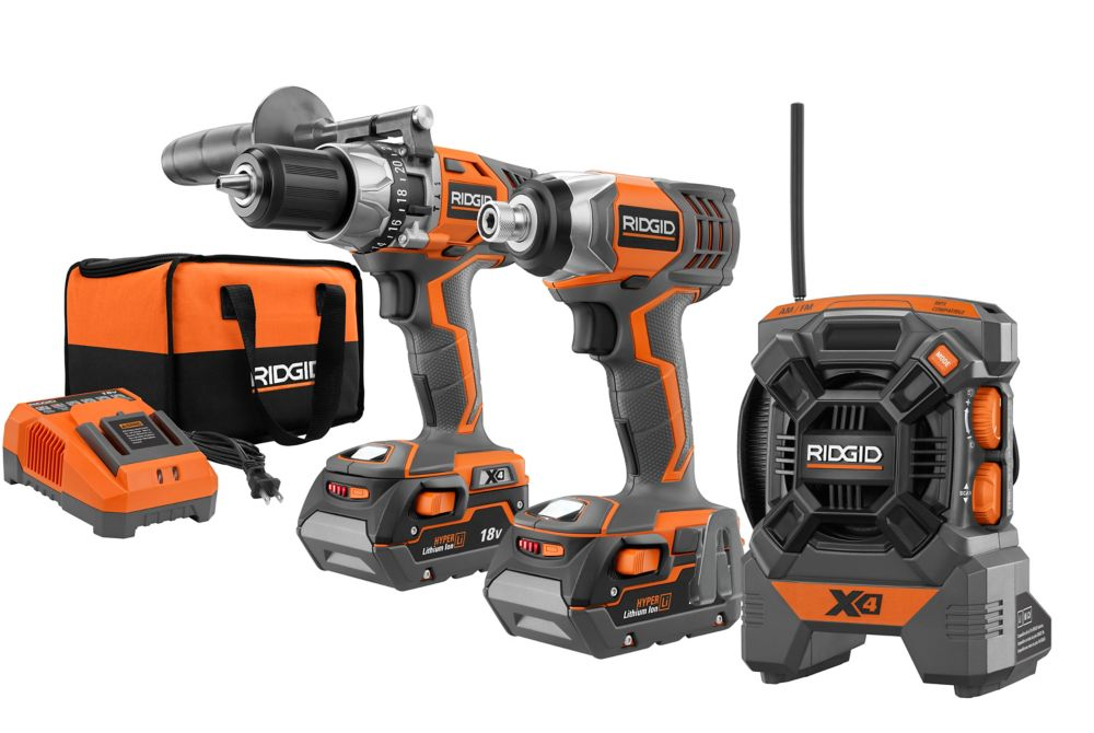 18V X4 Hammer Drill and Impact Driver Combo Kit
