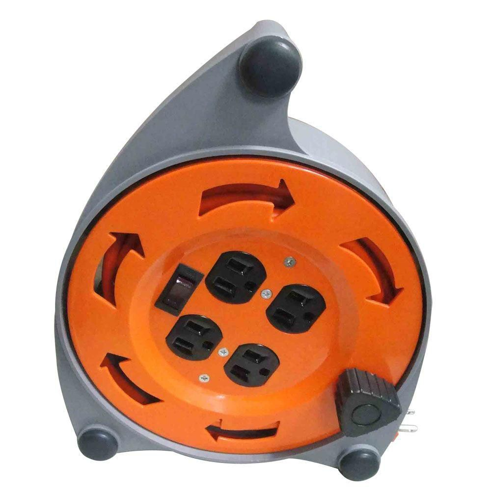 4-Outlet 16-Gauge Cord And Reel
