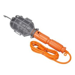 HDX 75W Plastic Shield Incandescent Trouble Light with 6 ft. Cord in Orange