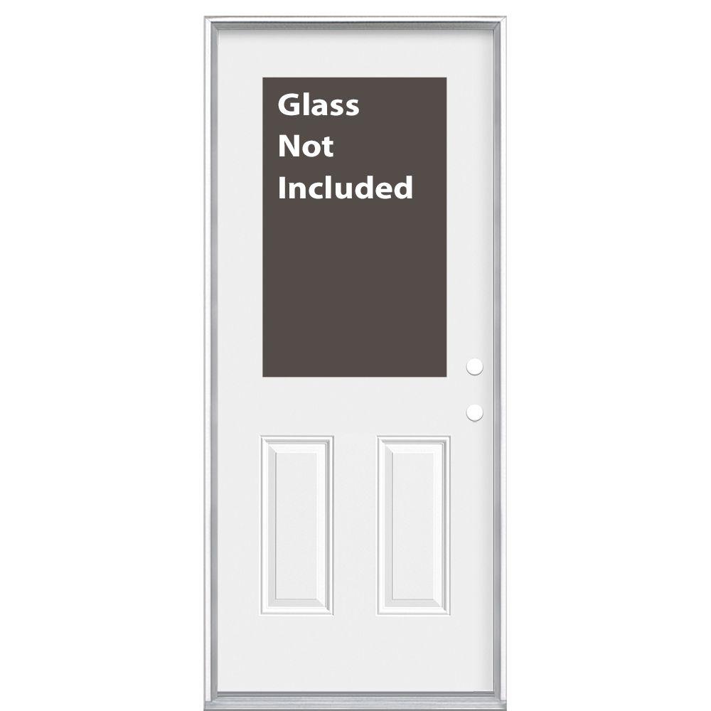 34-inch x 6 9/16-inch 1/2-Lite Cutout Left Hand Entry Door