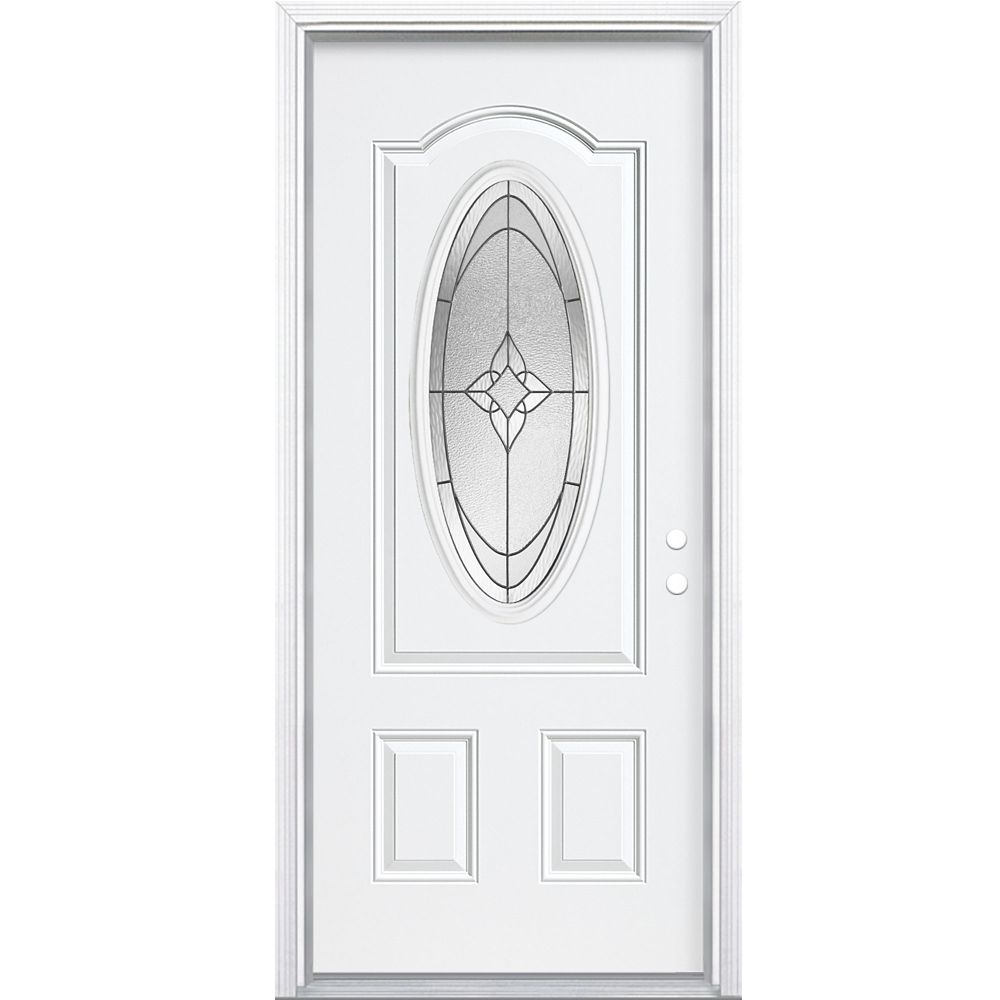36-inch x 4 9/16-inch Oxney 3/4 Oval Left Hand Entry Door