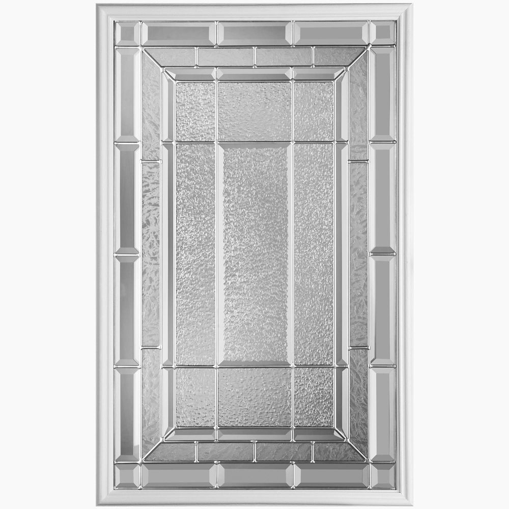 22-inch x 36-inch Sequence Nickel Glass Insert