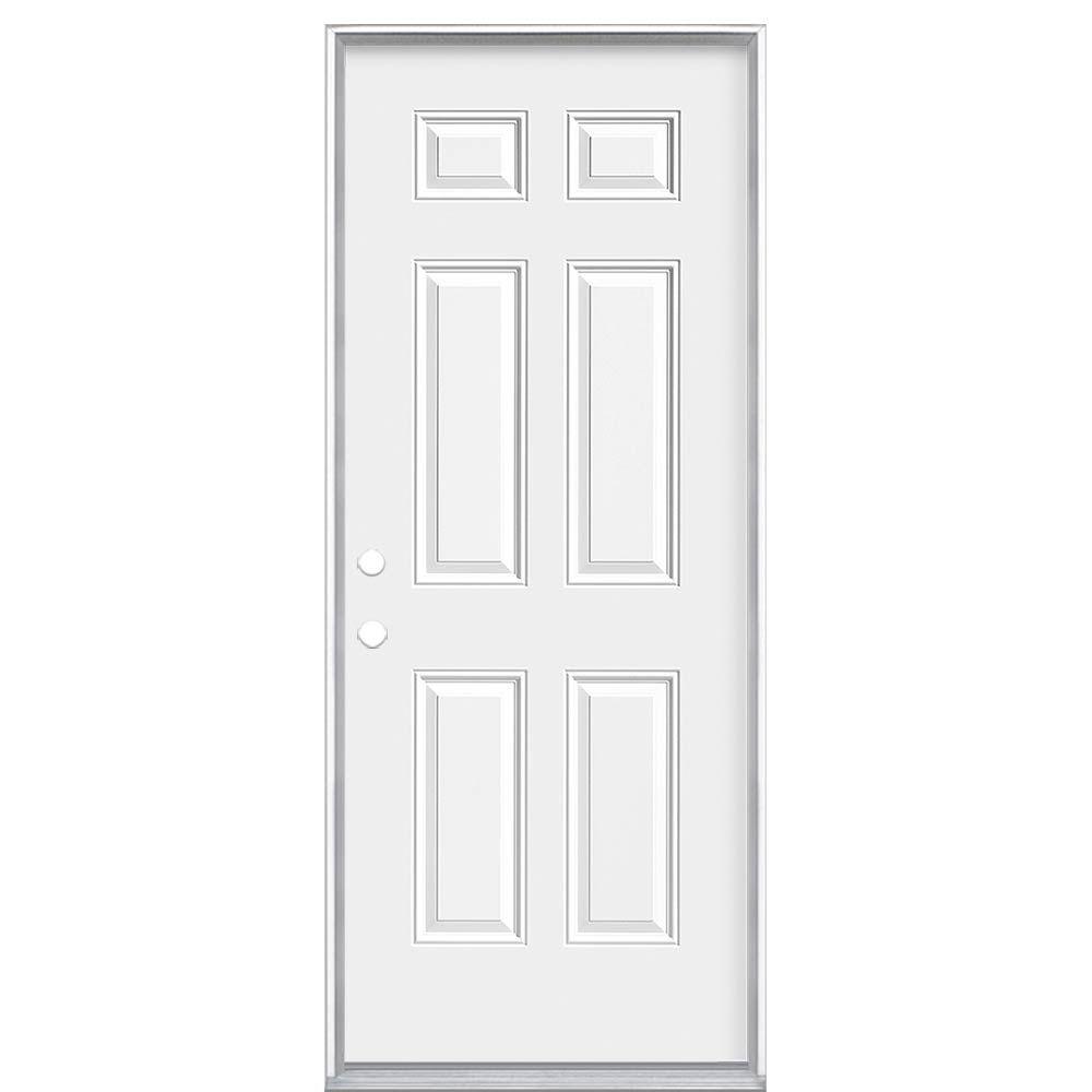 """34""""x80""""x6 9/16"""" 6 Panneaux porte d'entrée m. droite"""