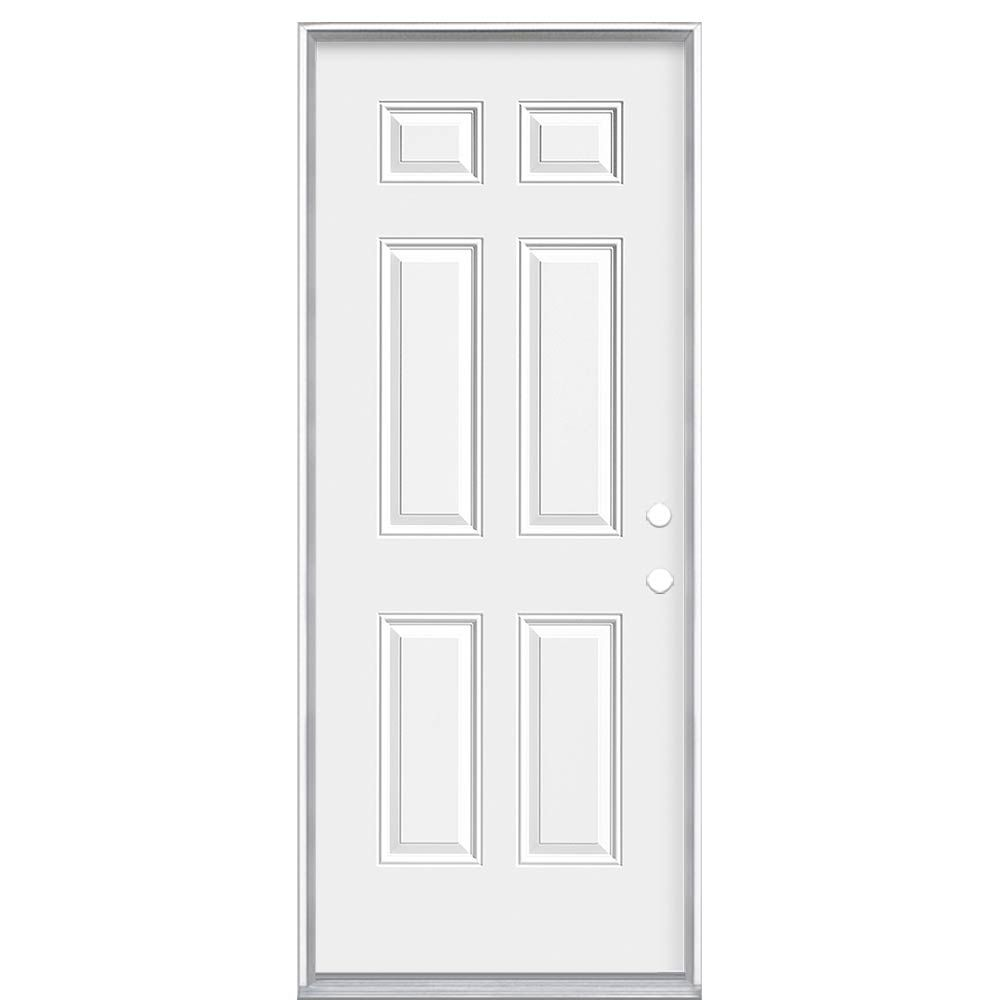 36-inch x 6 9/16-inch 6-Panel Endurance Left Hand Door
