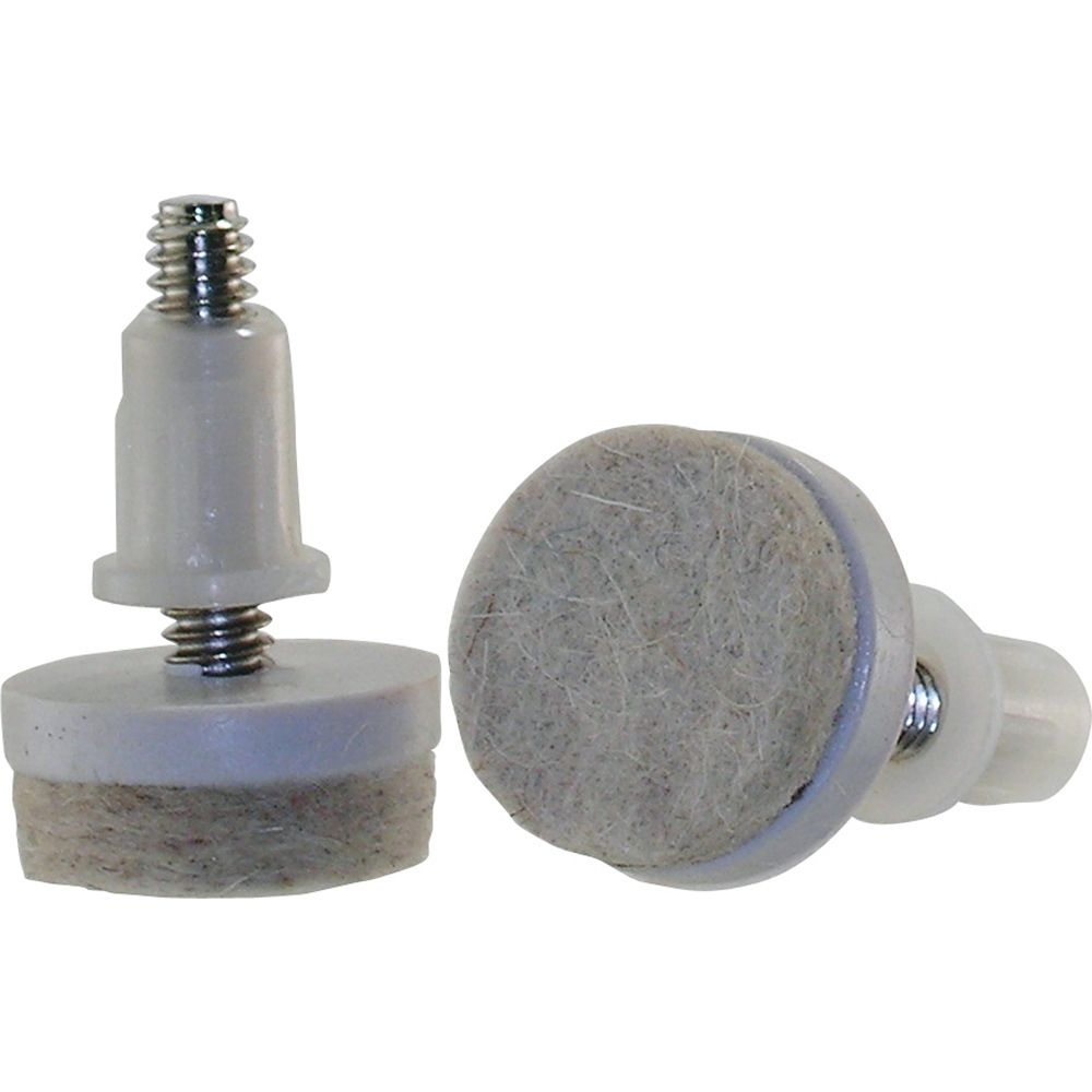 Everbilt 1 inch Threaded Stem Furniture Glides with Felt Base (4 per Pack)