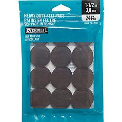 Everbilt 1-1/2-inch Heavy Duty Brown Self-Adhesive Felt Pads (24 per Pack)