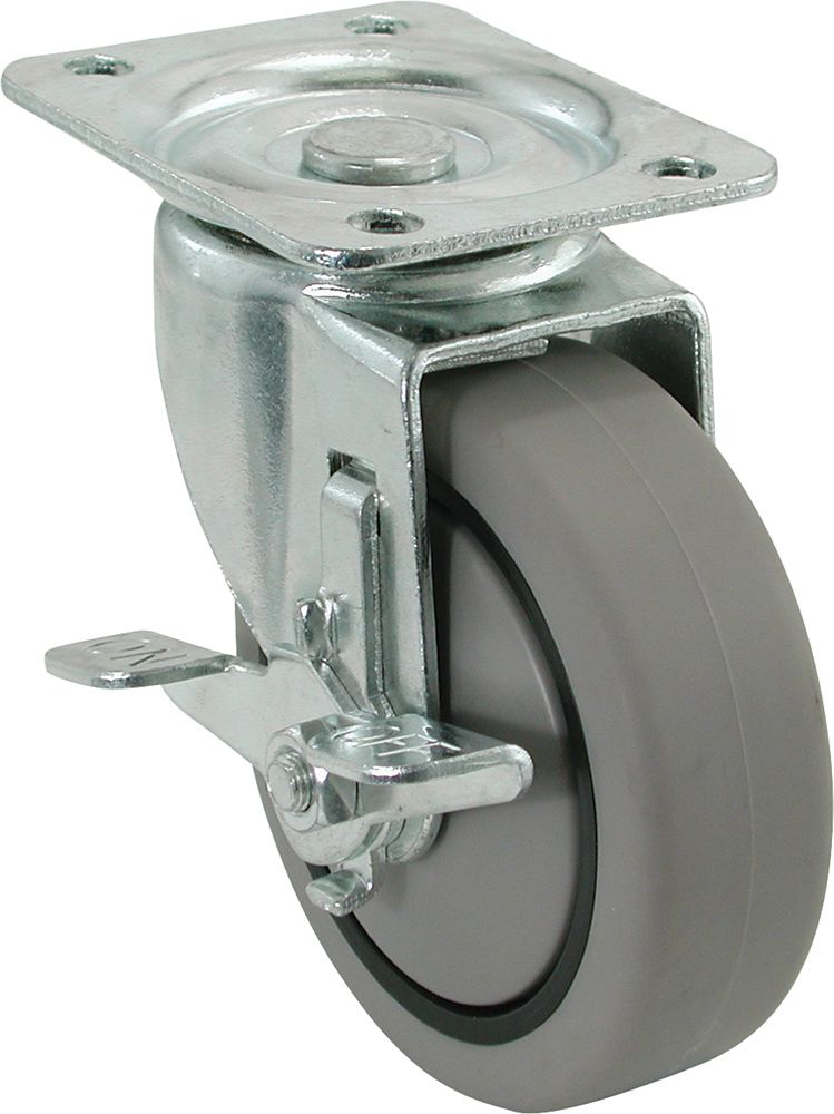 Medium Duty Swivel Caster With Brake