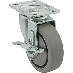 Everbilt 4 inch TPR Swivel Caster with 250 lb. Load Rating and Brake