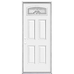 Masonite 36-inch x 4 9/16-inch Providence Camber Fan Right Hand Door - ENERGY STAR®