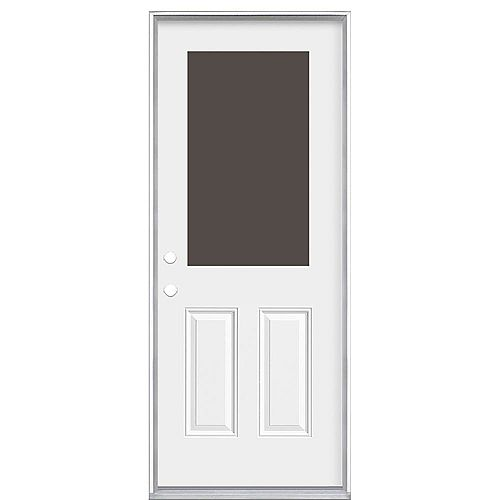 Masonite 32-inch x 80-inch x 6 9/16-inch 1/2-Lite Cutout Right Hand Door