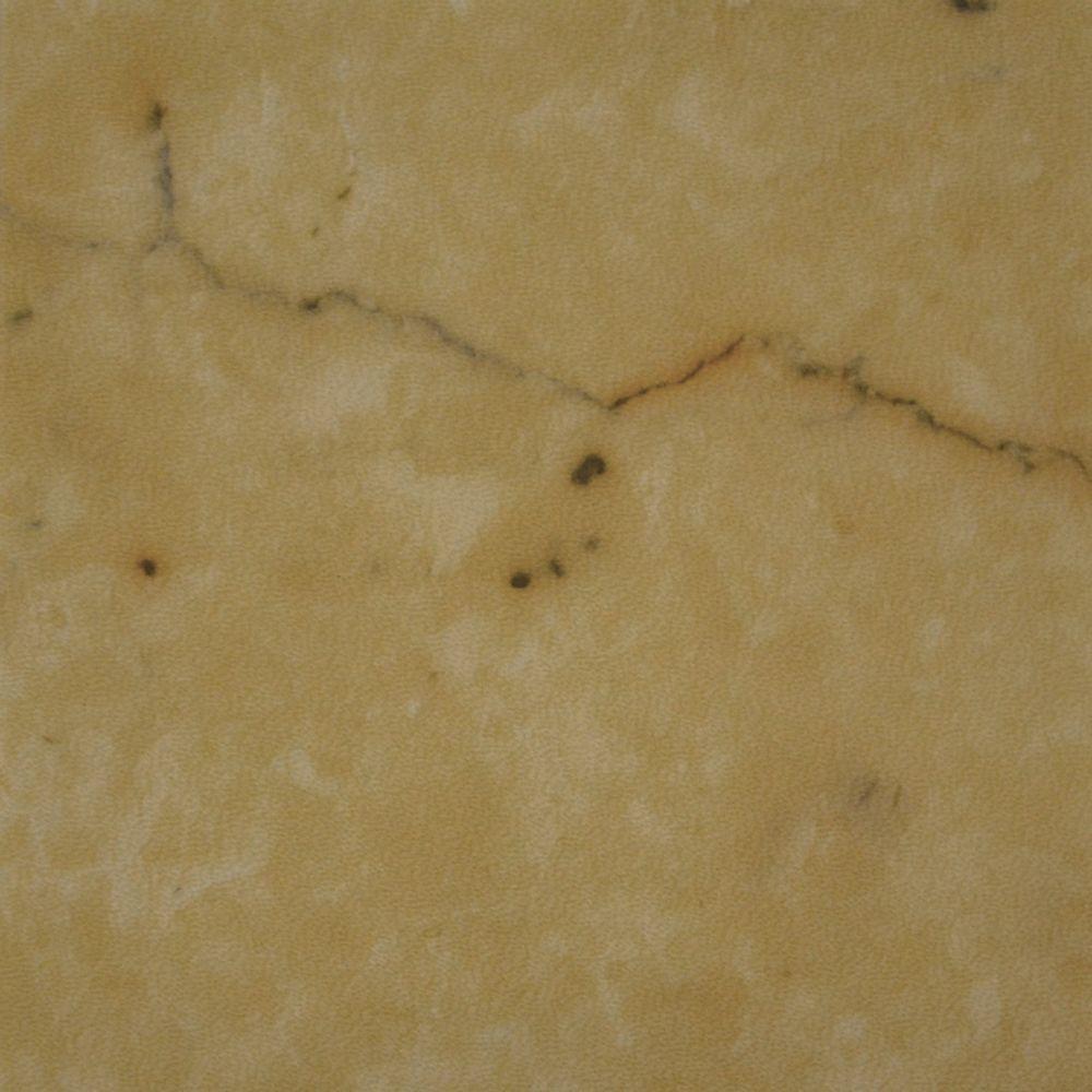 12 in. x 23.82 in. Carrara Tan Luxury Vinyl Tile Flooring (Sample)