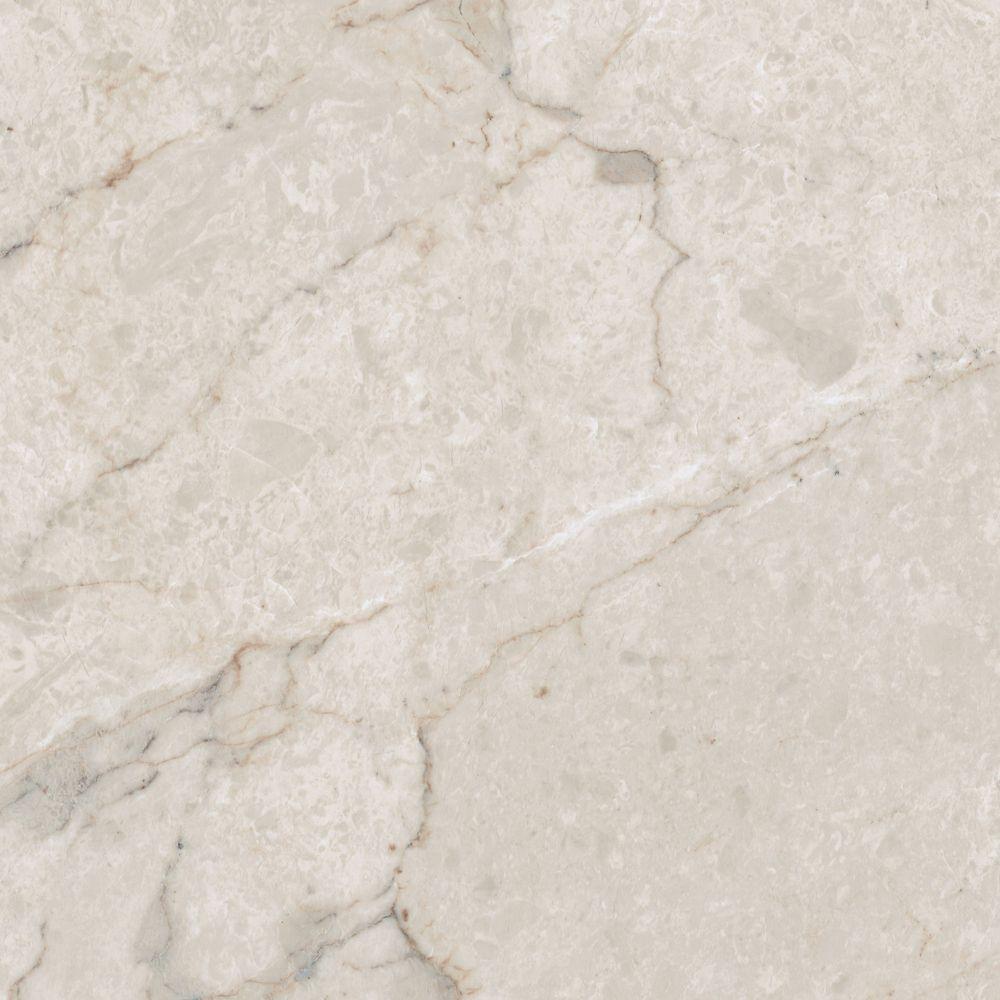12 in. x 23.82 in. Carrara White Luxury Vinyl Tile Flooring (Sample)