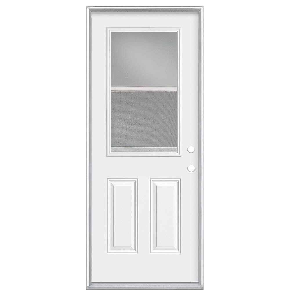 Masonite 36-inch x 80 x 4 9/16-inch Venting 1/2-Lite Low-E Left Hand Door - Energy Star