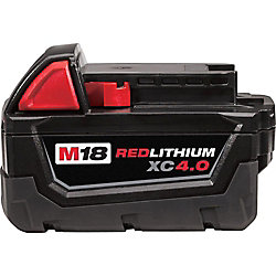 M18 18V Lithium-Ion Extended Capacity (XC) 4.0 Ah REDLITHIUM Battery Pack