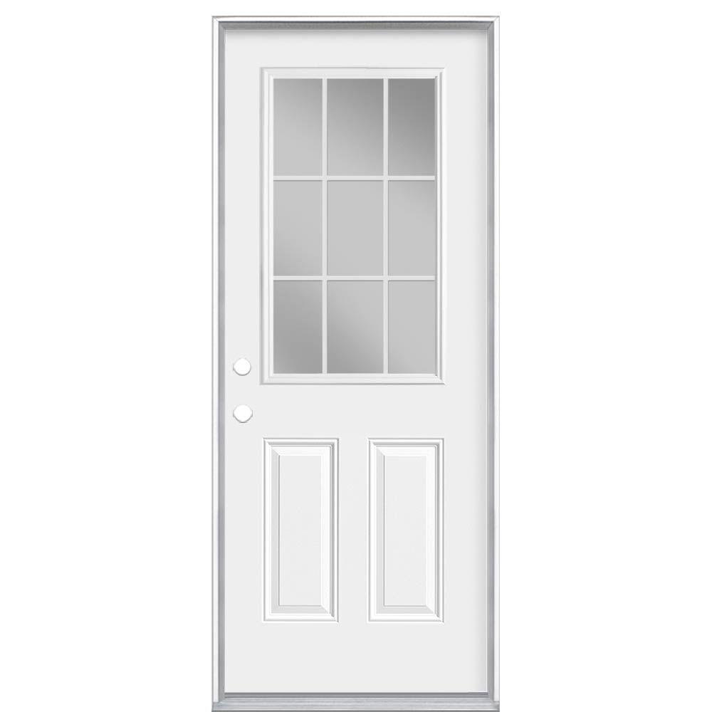 32-inch x 6 9/16-inch 9-Lite Internal Low-E Right Hand Door