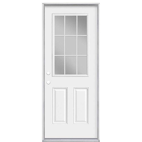 Masonite 32-inch x 80-inch x 6 9/16-inch 9-Lite Internal Low-E Right Hand Door - Energy Star