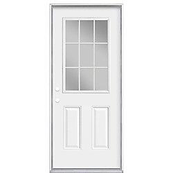 Masonite 34-inch x 7 1/4-inch 9-Lite Internal Low-E Right Hand Door - ENERGY STAR®