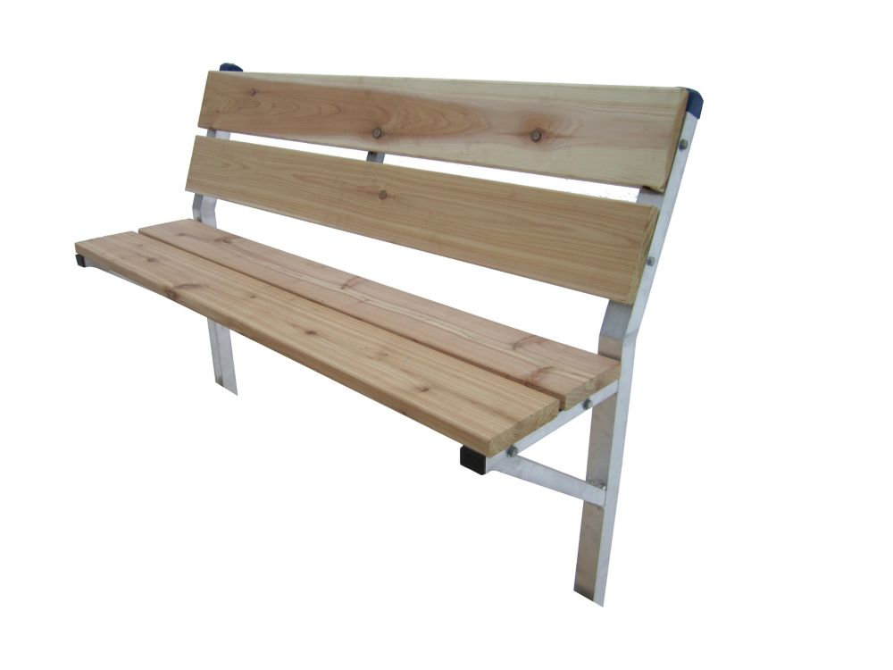 Patriot Docks 48 Inch Cedar Dock Bench Kit With Galvanized Steel Framing Supports The Home