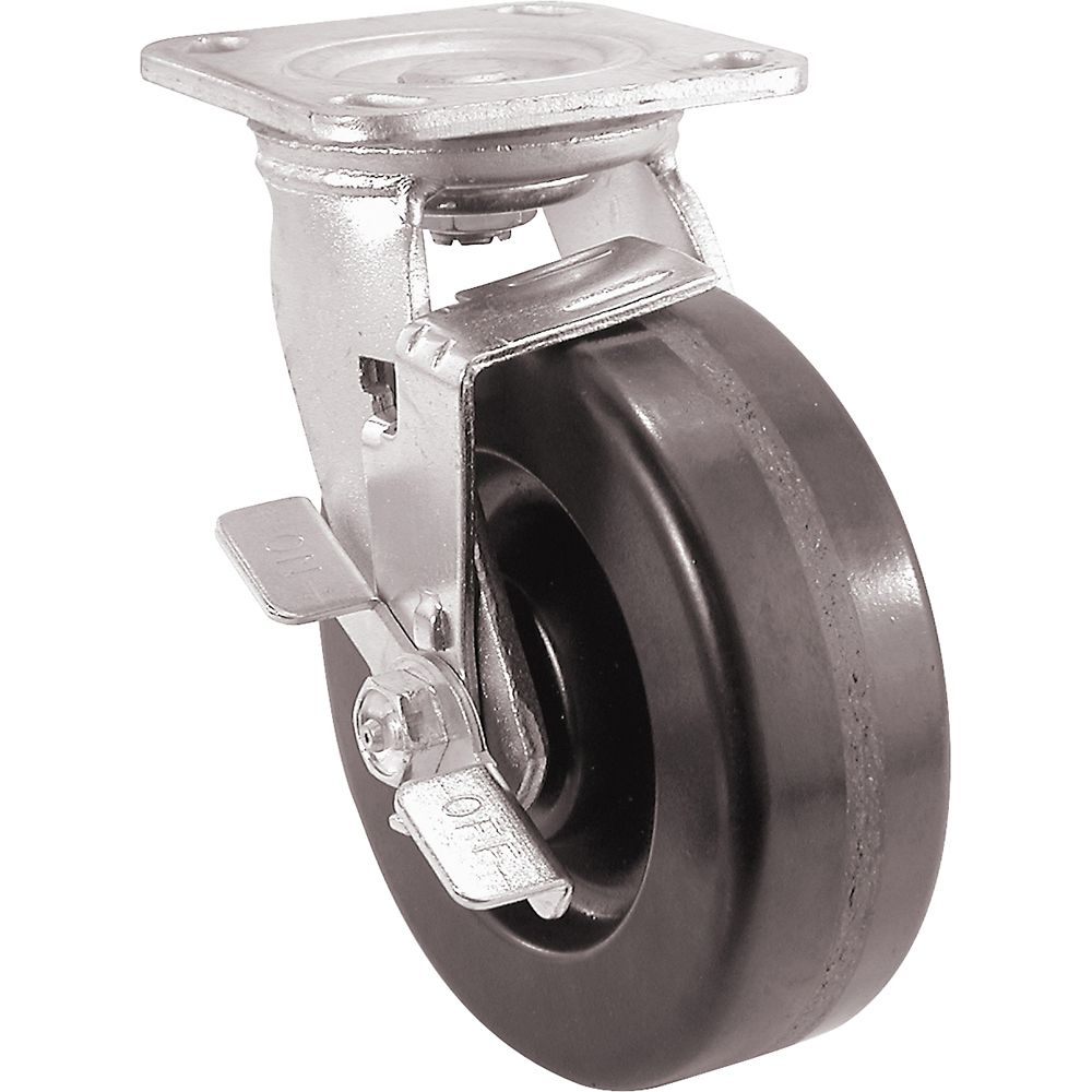 Load Rating Black Plastic Caster Wheel 2 Inch Swivel Plate Caster with 75lb
