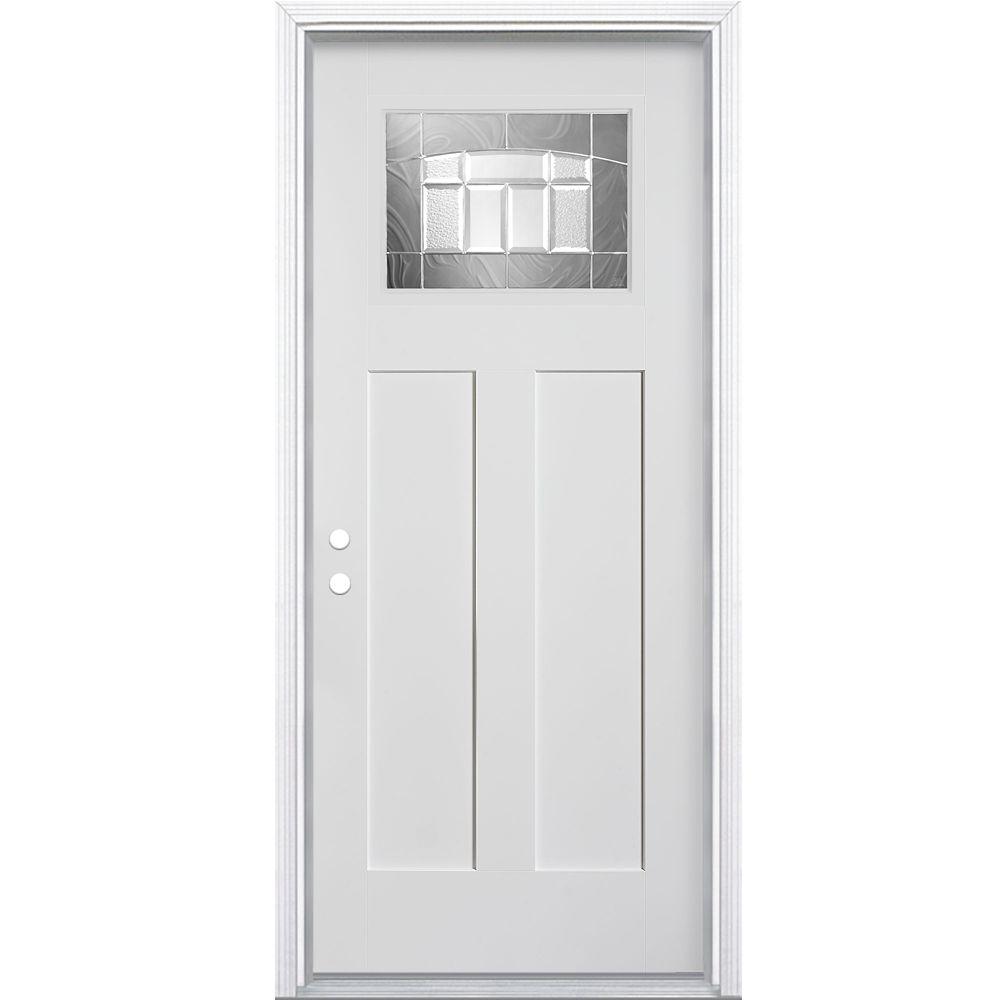 Masonite 36-inch x 4 9/16-inch Craftsman Croxley Fibreglass Smooth Right Hand Door - ENERGY STAR®