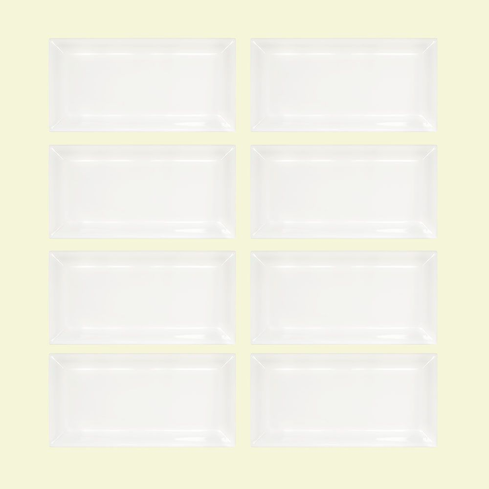 Jeffrey Court Allegro Bevelled 3-inch x 6-inch x 8 mm Ceramic Wall Tile (1-Pack/8-Pieces/1 sq. ft.)