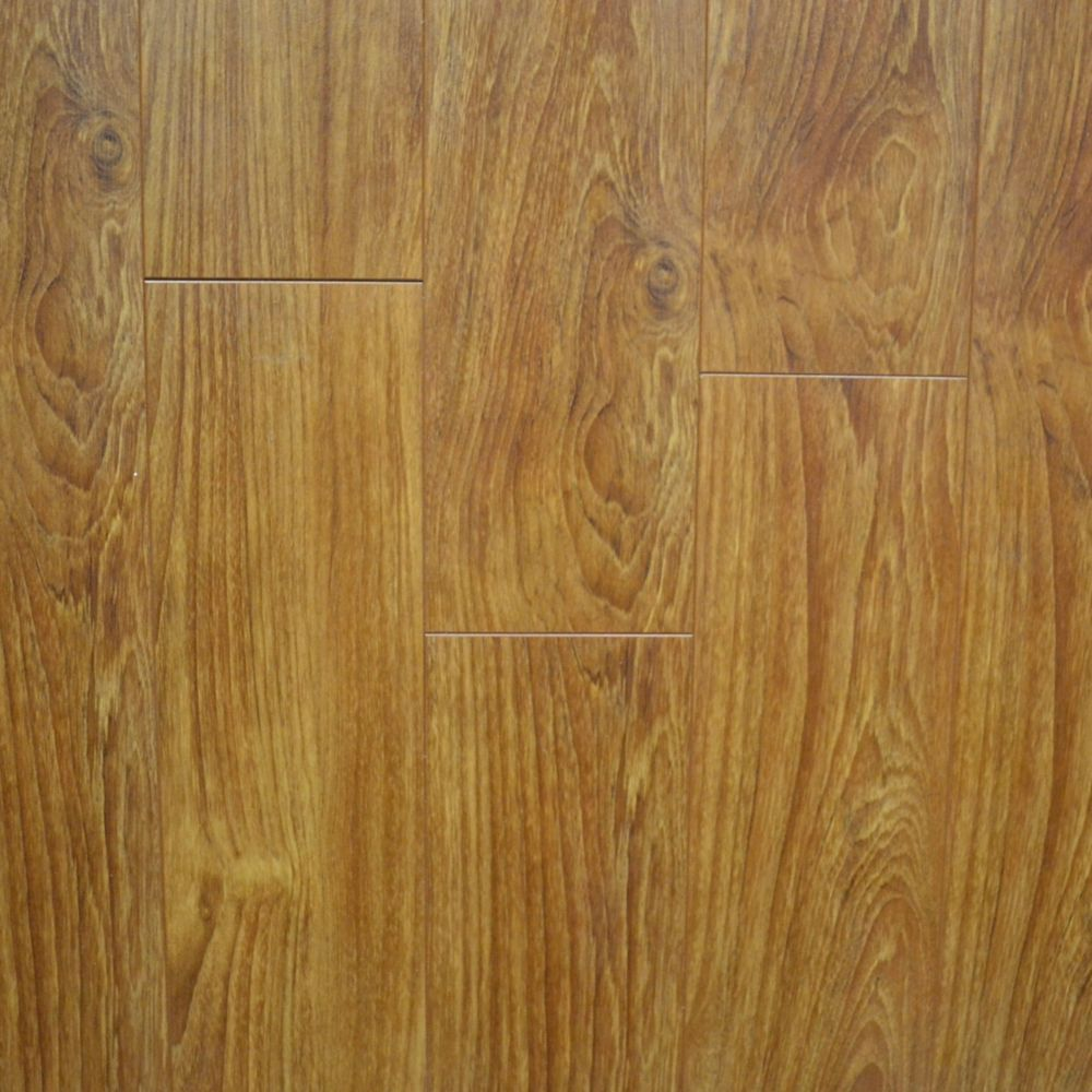 12mm Thick x 5-inch W Light Walnut Laminate Flooring