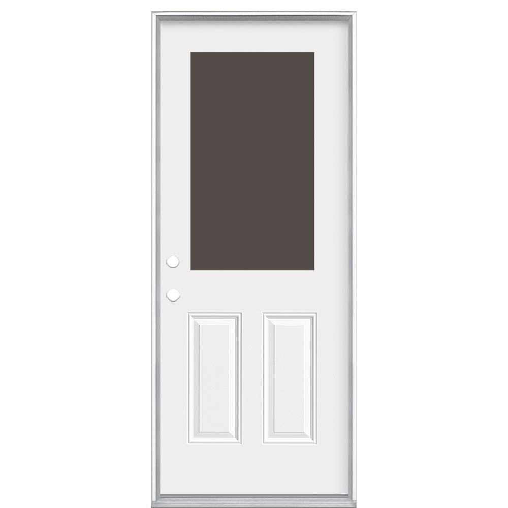 Masonite 34-inch x 4 9/16-inch 1/2-Lite Cutout Right Hand Door - ENERGY STAR®