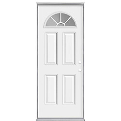 "Masonite 34""x80""x4 9/16"" Demi lune Int. porte d'entrée m. gauche - ENERGY STAR®"