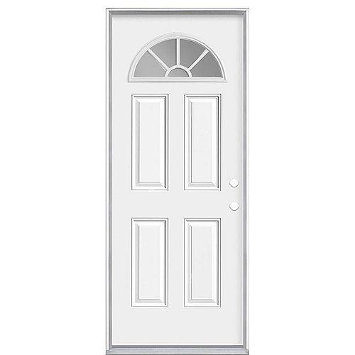 Masonite 34-inch x 80-inch x 4-9/16-inch Fan Lite Internal Grille Left Hand Door