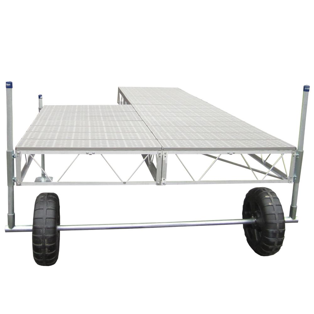Patriot Docks 40 Feet  Patio Roll-in Dock w/Poly Decking
