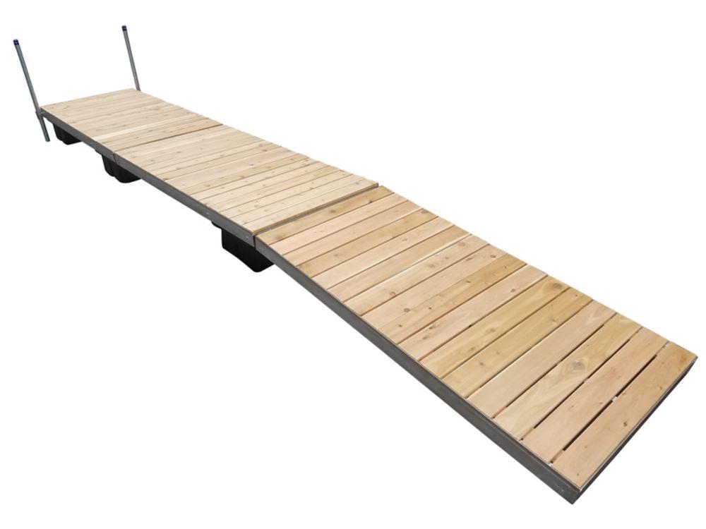32 Feet  Lateral Dock w/Cedar Decking