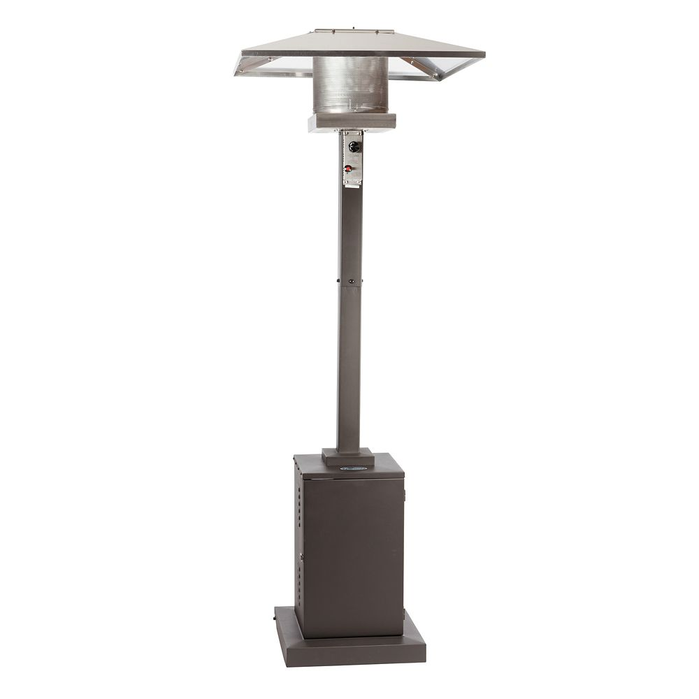 outdoor heaters charcoal jumbuck heater patio coated grey powder bunnings
