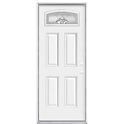 Masonite 32-inch x 6 9/16-inch Providence Camber Fan Left Hand Door - ENERGY STAR®