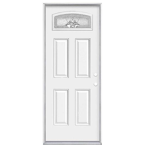 Masonite 32-inch x 80-inch x 6 9/16-inch Providence Camber Fan Left Hand Door - Energy Star