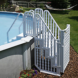 Blue Wave Easy Step Pool Entry System with Gate