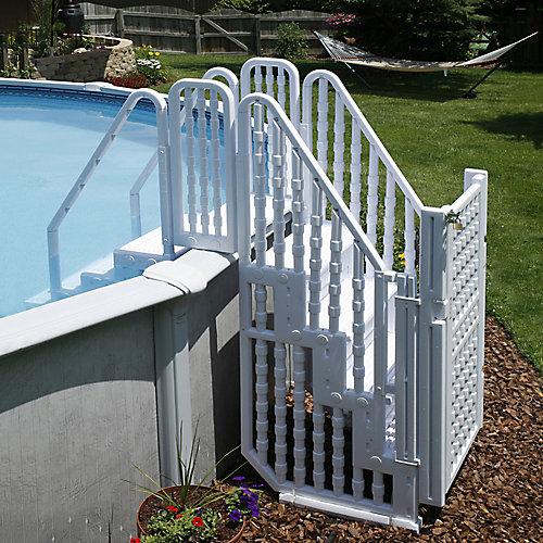 Système d'accès pour piscine Easy Pool Step avec porte
