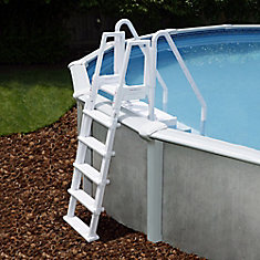 Easy Above Ground Pool Step with Outside Ladder