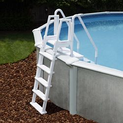 Blue Wave Easy Above Ground Pool Step with Outside Ladder