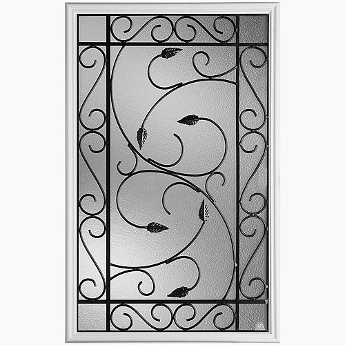 Masonite 22-inch x 36-inch Pergola Iron Glass Insert