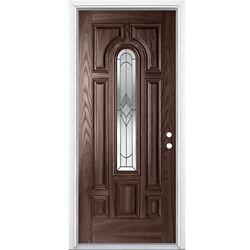 Masonite 32-inch x 4 9/16-inch Oxney Merlot Centre Arch Fibreglass Left Hand Entry Door - ENERGY STAR®