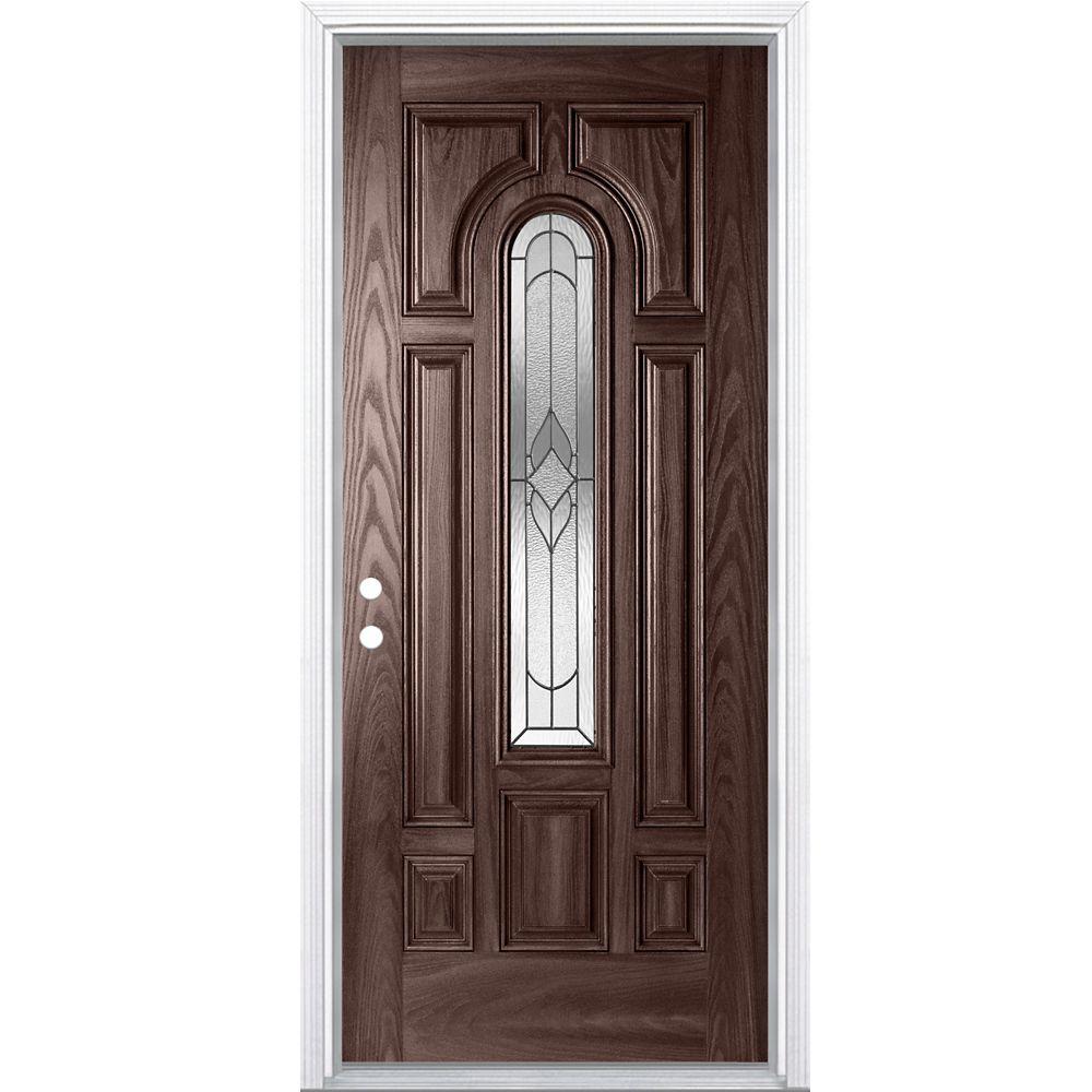 36-inch x 4 9/16-inch Oxney Merlot Centre Arch Fibreglass Right Hand Entry Door