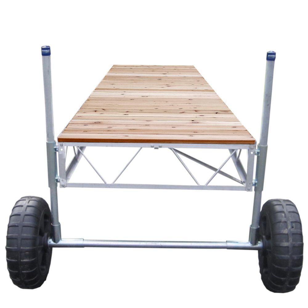 40 Feet Straight Roll-in Dock w/Cedar Decking 10535 in Canada