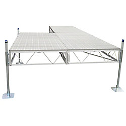 Patriot Docks 24 ft. Patio Dock with Poly Decking