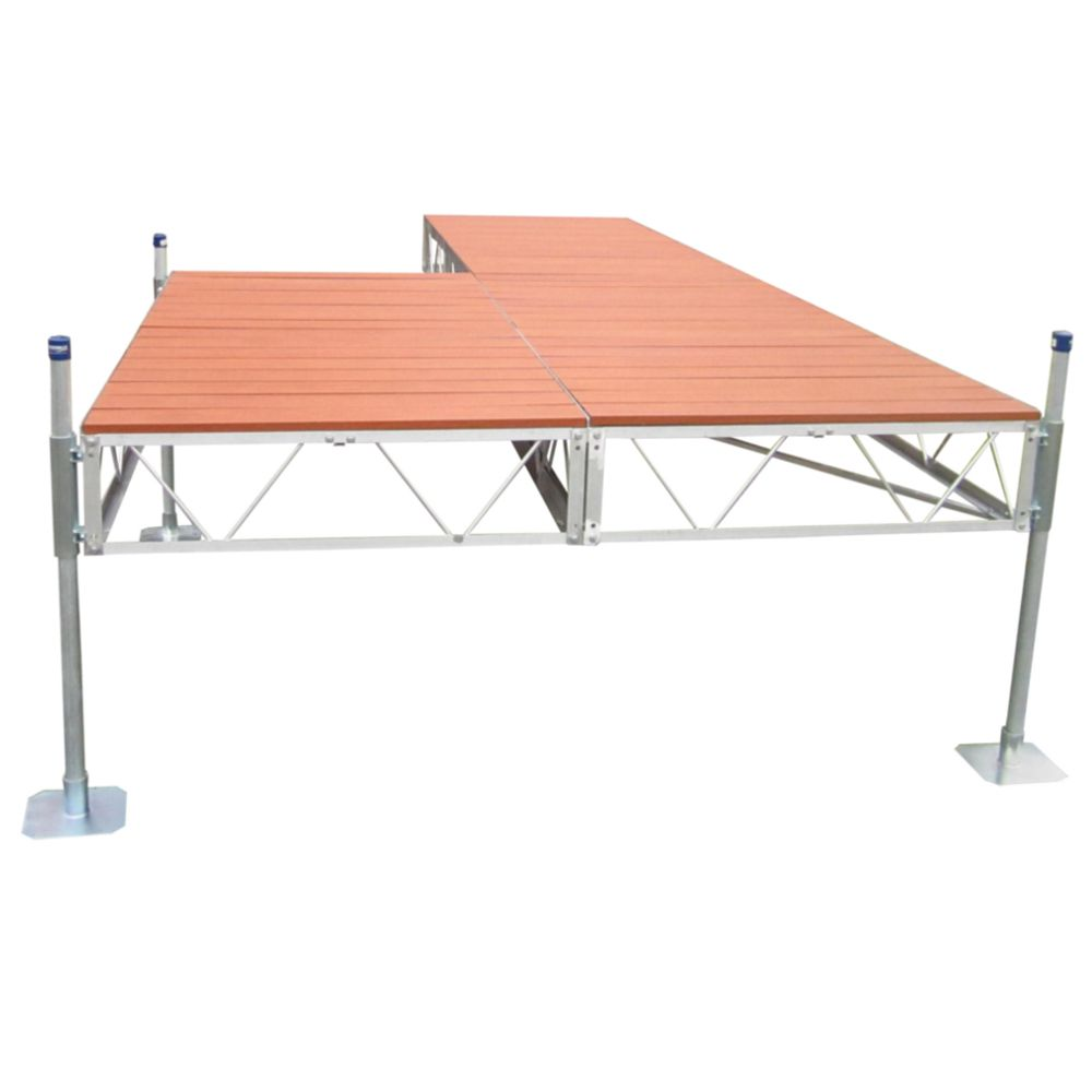 24 Feet  Patio Dock w/Aluminum Wood Grain Decking